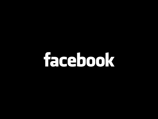 Facebook Vector Logo - Black & White