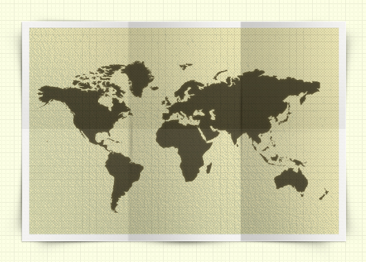 Free Psd Map Mockup