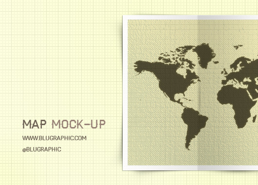 Map Mock-up (Psd)