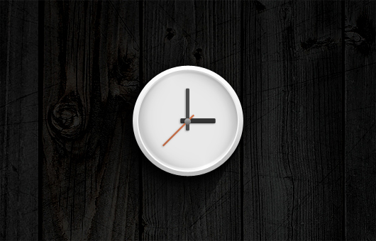 Analog Clock Icon (Psd)