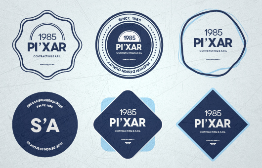 Badges Template Psd