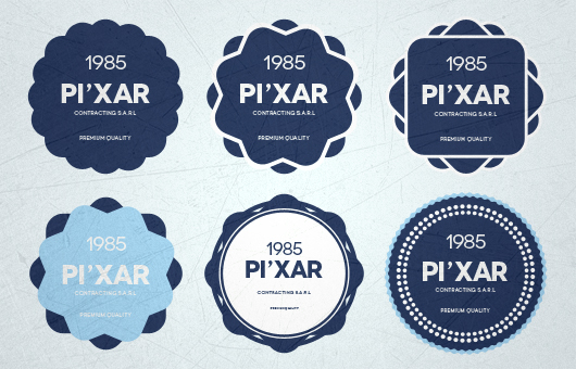Badges Mockup Psd
