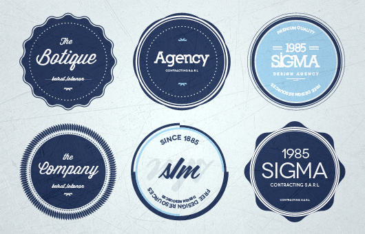 Flat Psd Badges