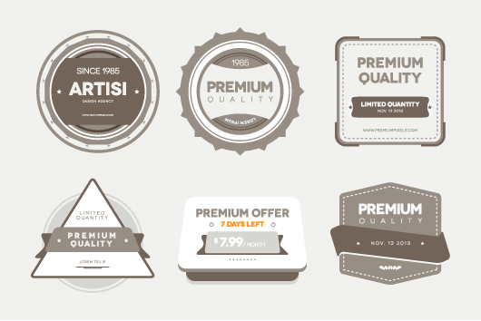 Premium Quality Badges (Vector / Psd)