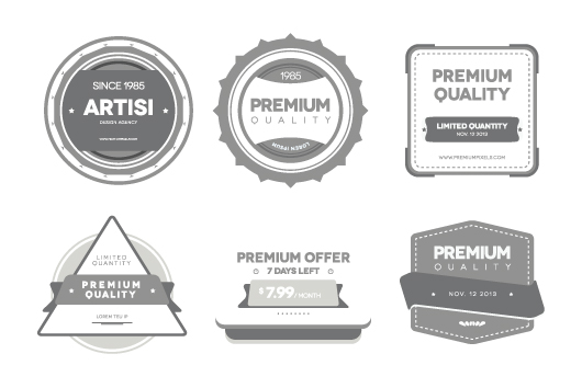 Quality Badges - Vector