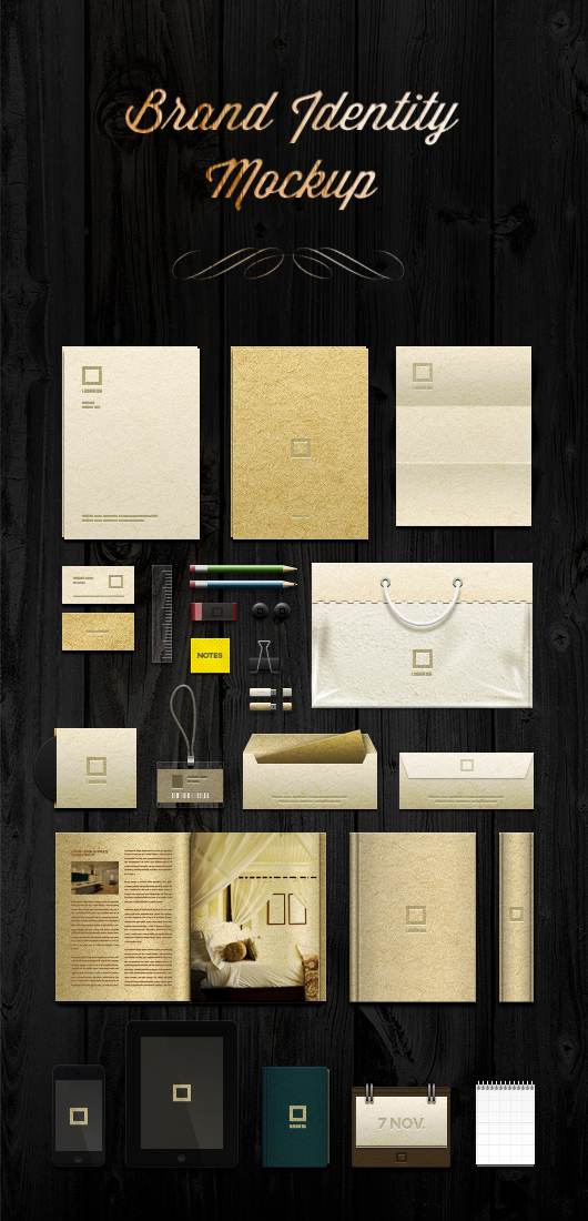 Brand Identity Mock-up Template (Psd)