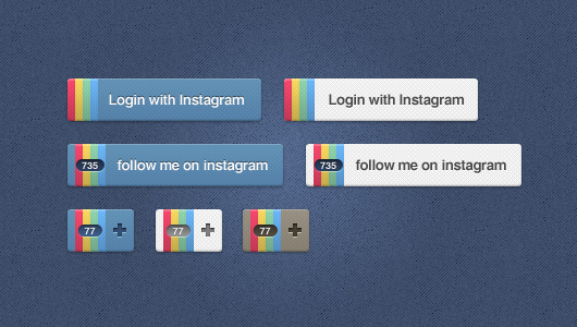 Instagram Buttons (Psd)