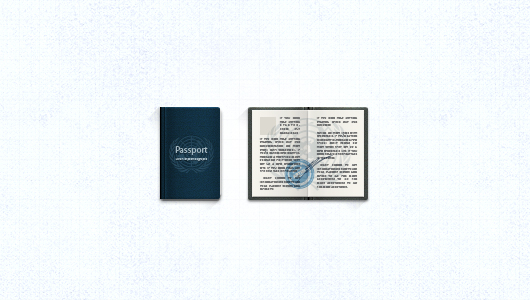 Passport Icon (Psd / Vector)