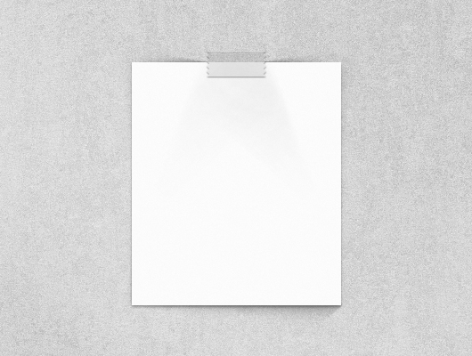 Blank Paper Poster Mockup (Vector/ Psd)