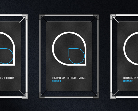 Wire Poster Frame Mockup Psd