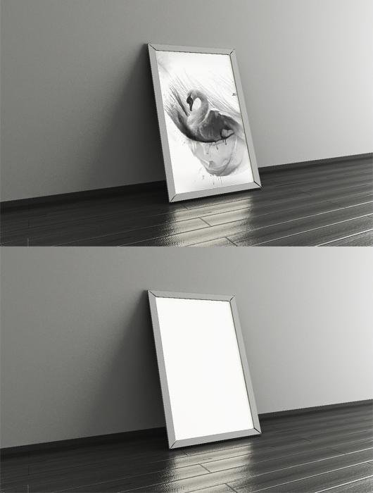 3d poster frame mockup