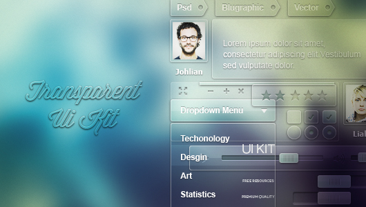 Transparent Ui Kit - Thumb