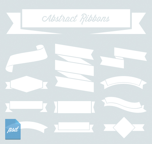 Abstract Vector Ribbons (Psd)