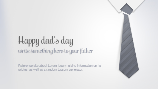 Father's Day Greeting Card (Psd)
