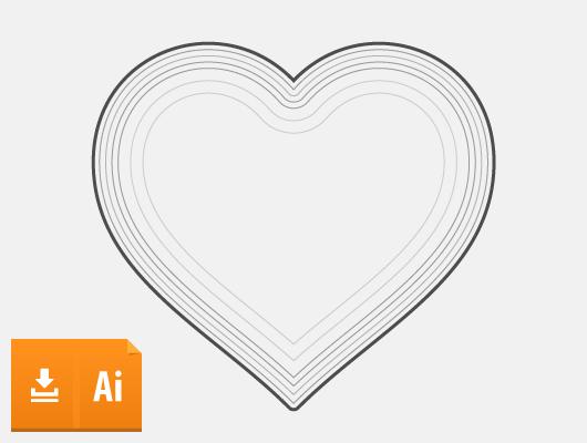 Stroked Vector Heart (Ai, Eps)