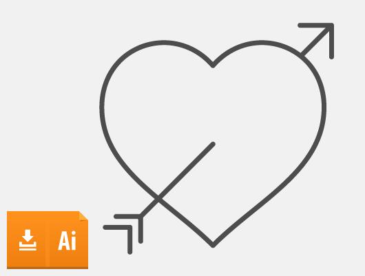 Arrow Vector Heart (Ai, Eps)