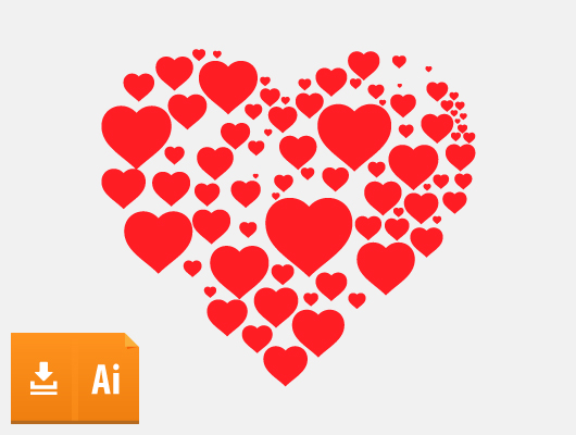 Hearts in Heart Vector (Ai, Eps)