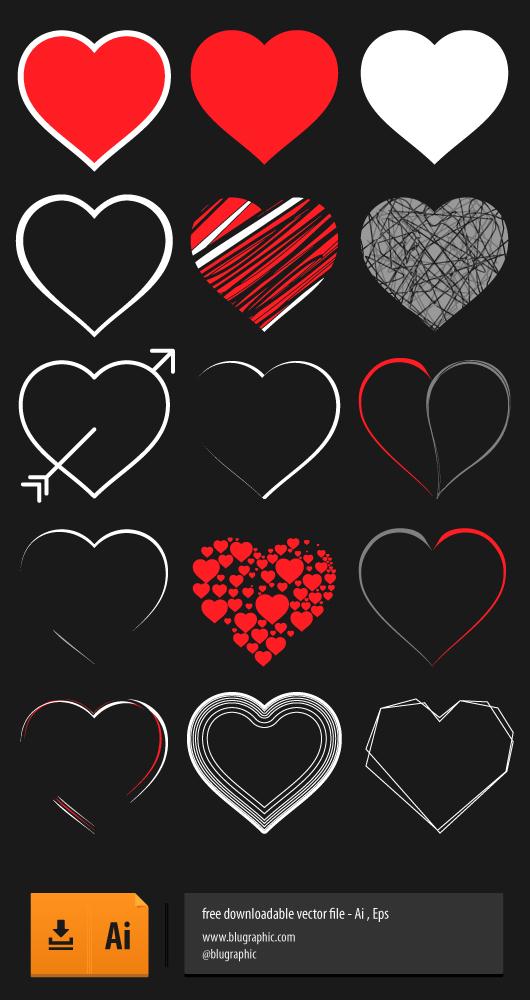 Black Vector Heart ( Ai, Eps)
