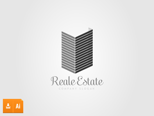 3 dimensional real estate logo