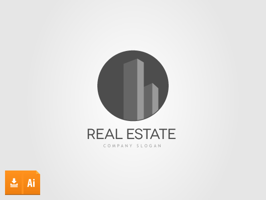 Abstract Real Estate Towers Logo (Vector)
