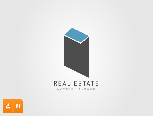 Abstract Real Estate Logo (Vector)