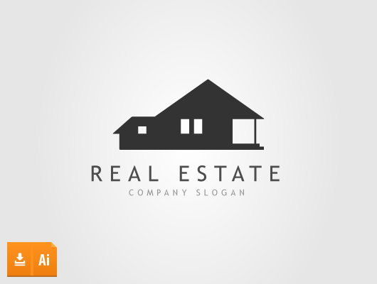 Traditional House Real Estate Logo (Vector)