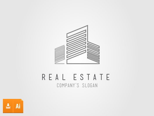Line Logo Vector Real Estate
