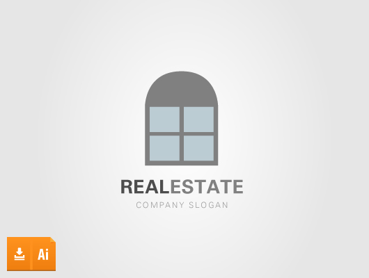 Key Real Estate Window Logo (Vector)