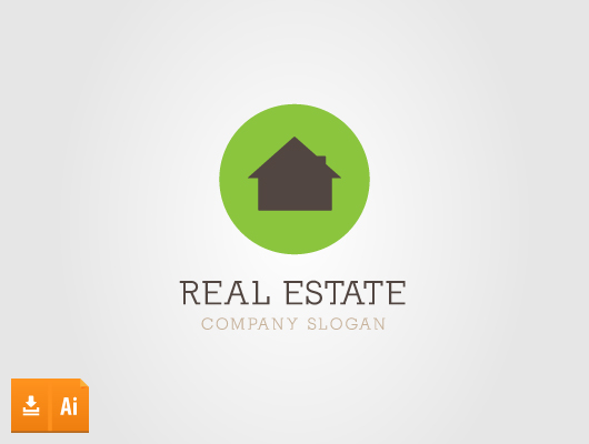 Circle Green Real Estate (Vector Logo)