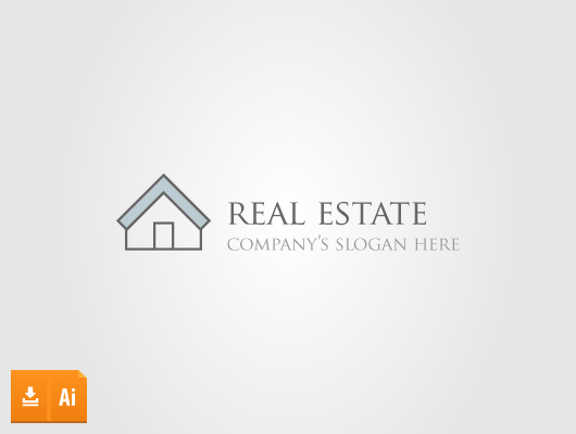 Lined Real Estate (Vector Logo)