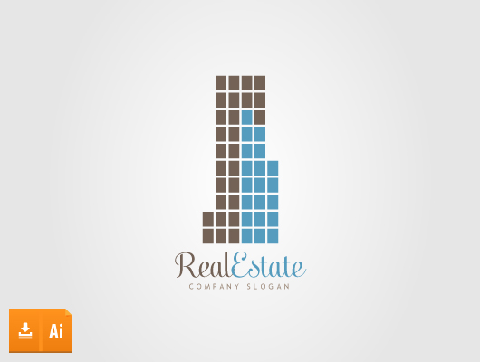 squares real estate vector logo