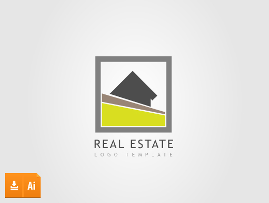 Box Real Estate Vector Logo