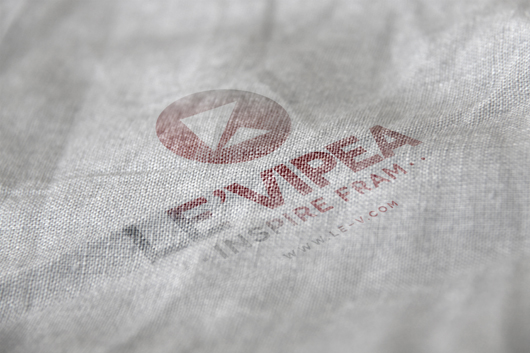 Folded Fabric Logo Mockup