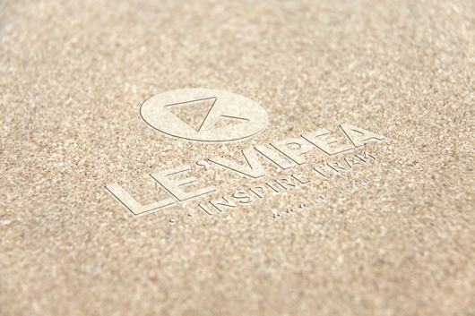 Sand Background Embossed Logo Mockup