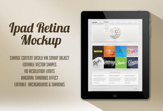 Tablet Retina Mockup (Psd)