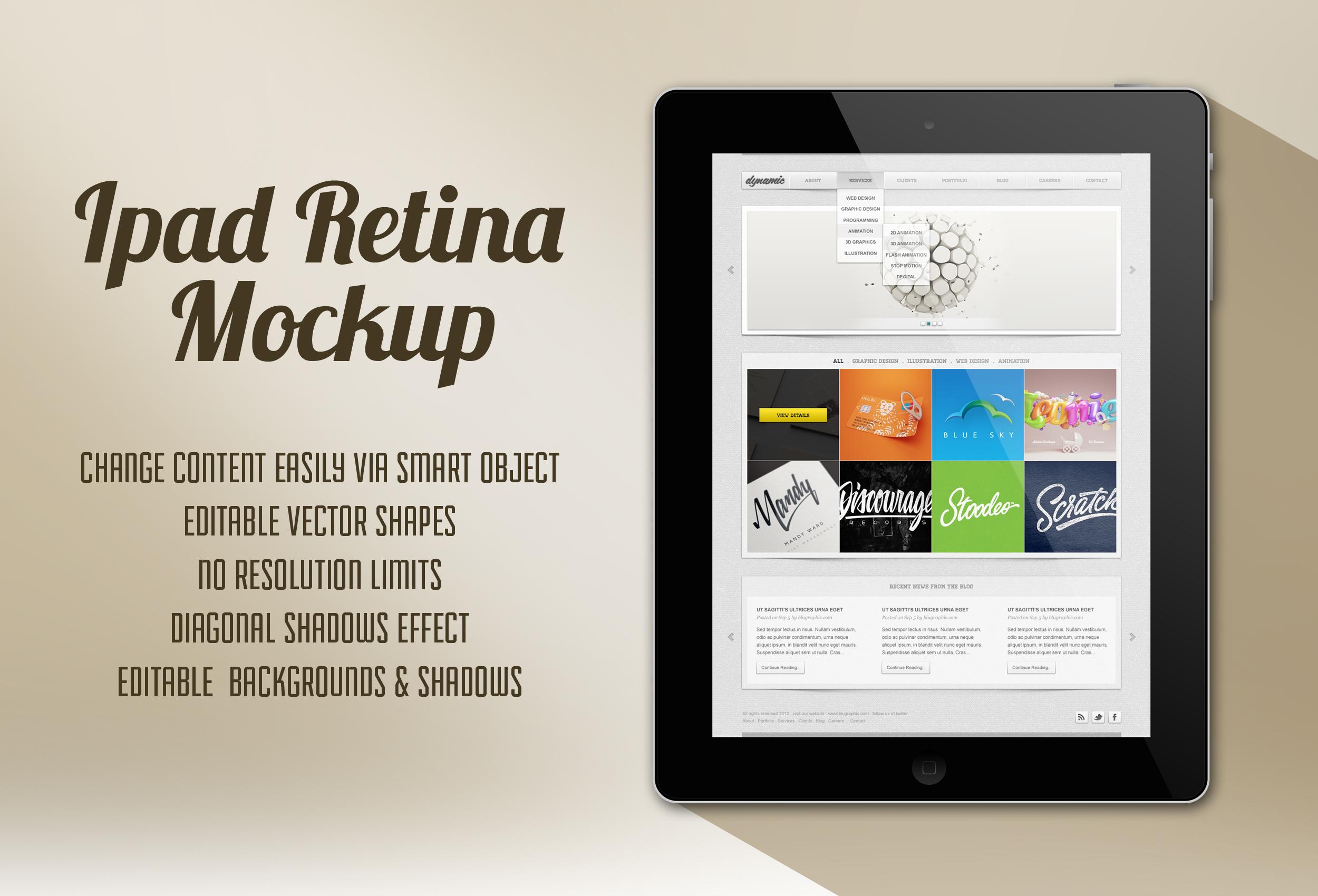 tablet Retina Mockup Psd