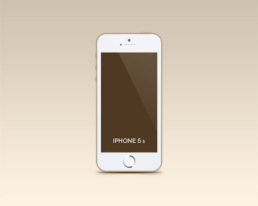 Iphone 5s Mockup (Psd)