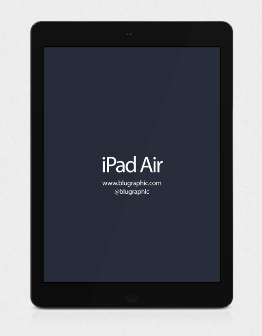 Black Ipad Air Psd Mockup