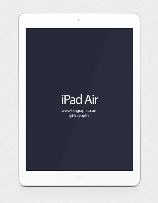 White Ipad Air Psd Mockup