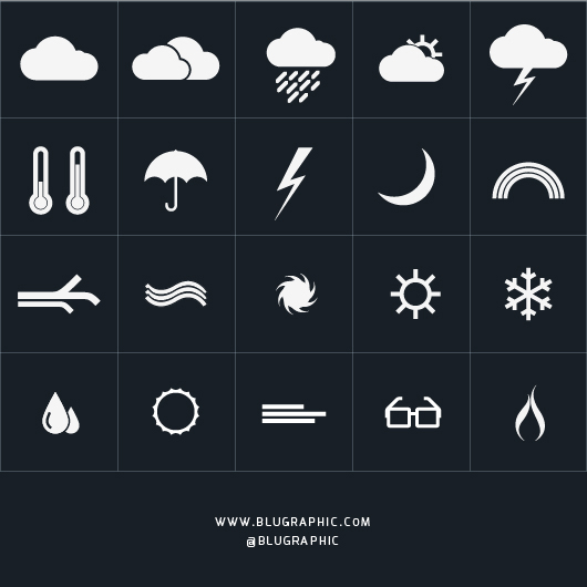 20 Weather & Environment Icons (Vector)
