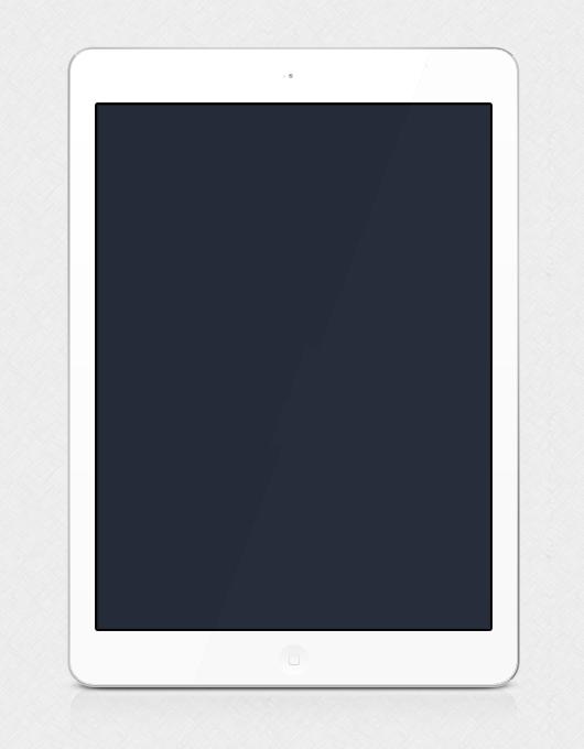 White tablet Air Psd Mockup