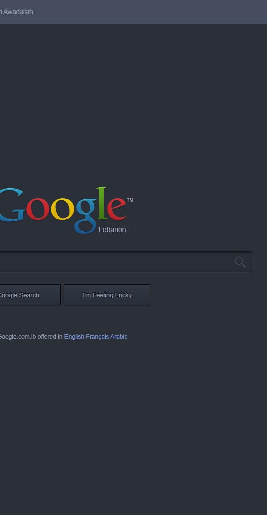 Google Website Redesign Dark (Psd)