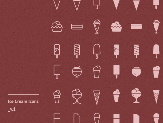 Ice Cream Icons (Vector & Psd)