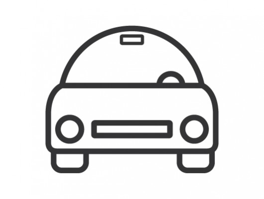 Minimal Car Icon ( Vector .ai )