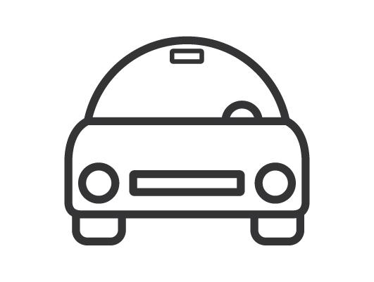 Minimal Car Icon (Vector)