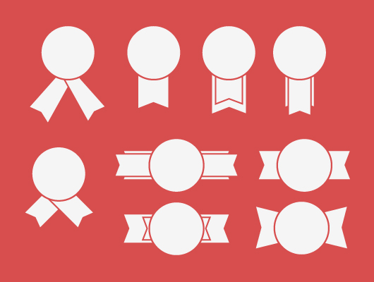 Badge Vector Ribbons