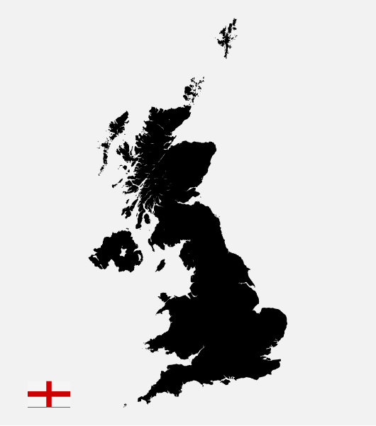 England Vector Map (Ai / Eps)