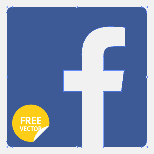Flat Facebook Logo Icon (Vector)