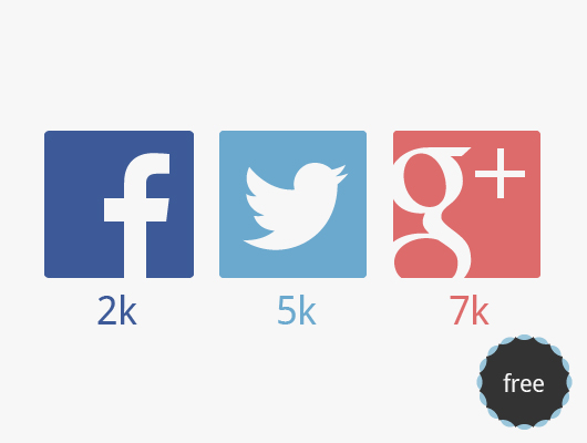 Flat Social Networks Icons ( Vector )