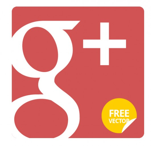 Google Plus Flat Icon (Vector)